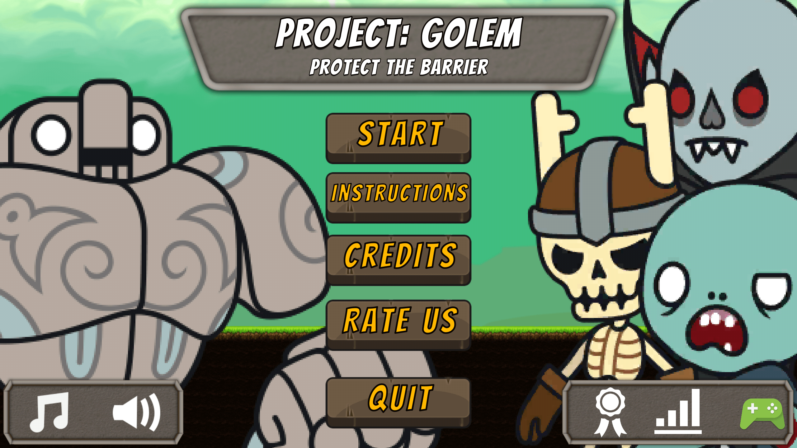 Project: Golem - Protect the Barrier